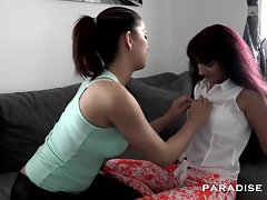 German Teen with an increment of Milf lesbians