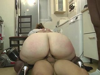 hot french plumper with  huge big nuisance gets double drilled